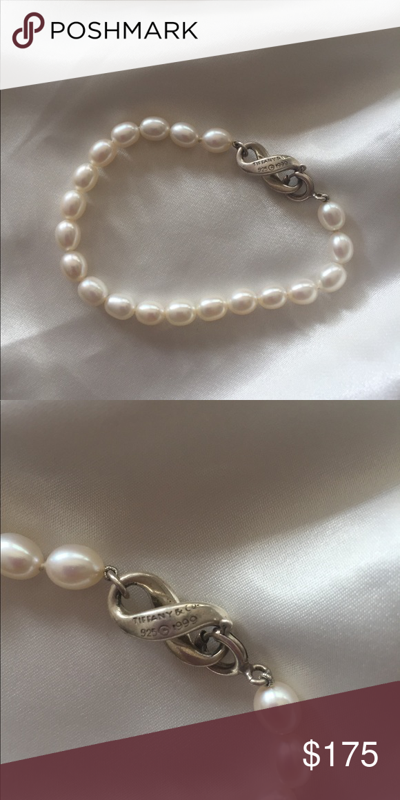 73709314c Infinity Pearl Bracelet Beautiful Tiffany & Co. pearl bracelet with sterling  silver infinity clasp. Perfect for a classy look! Tiffany & Co. Jewelry ...