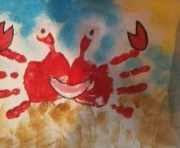 Beach Handprint Art ideas #beach #handprintart #handprint #kids #kidsartsandcrafts #summerhandprintart