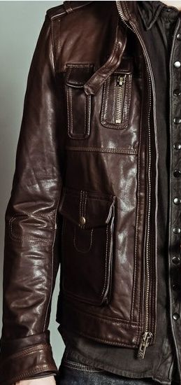 Leather Jacket for men - Click on image to visit www.pooz.com