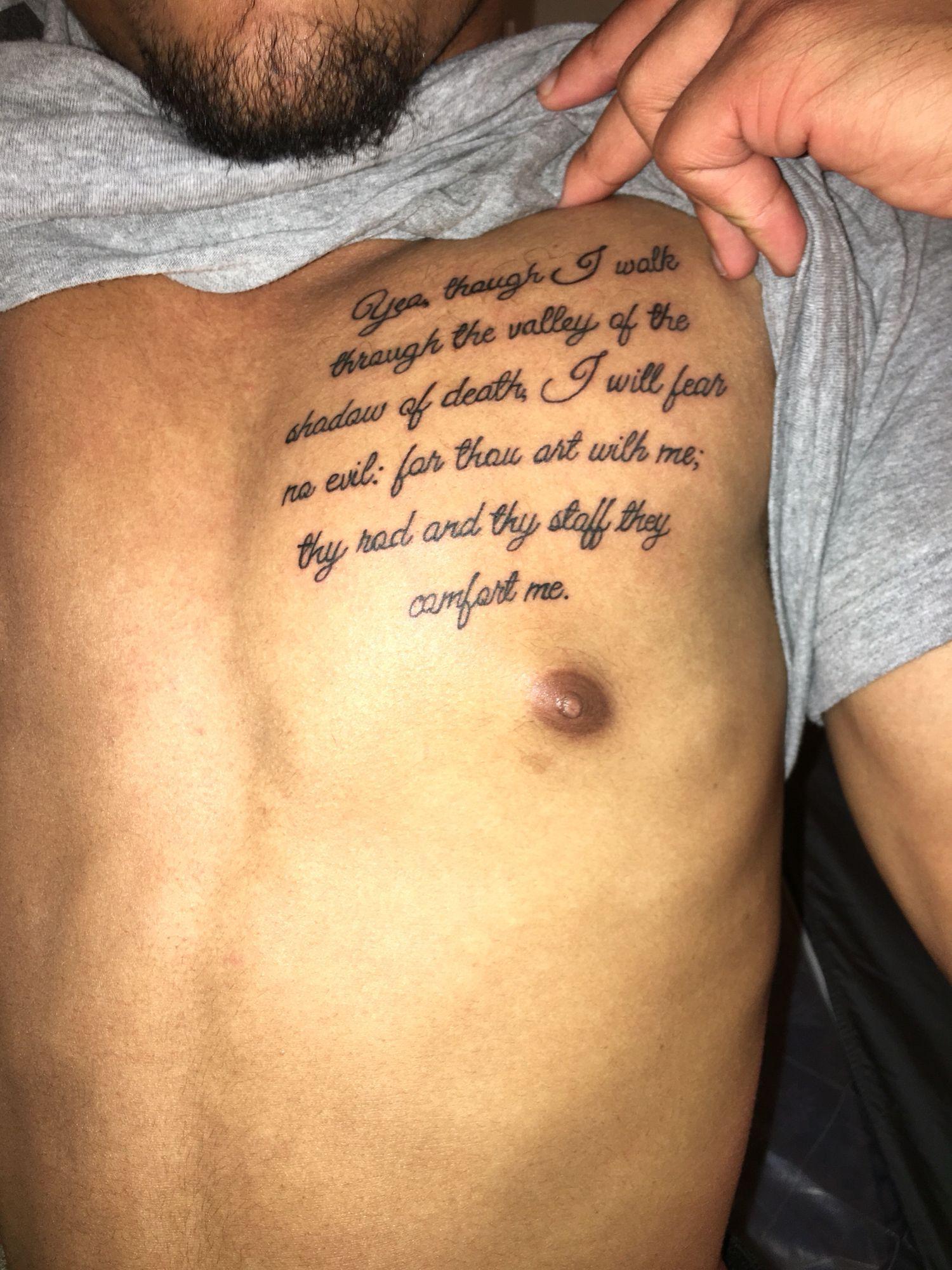 Psalms 234 Tattoos Psalm 23 Tattoo Tattoos Tattoos For Guys