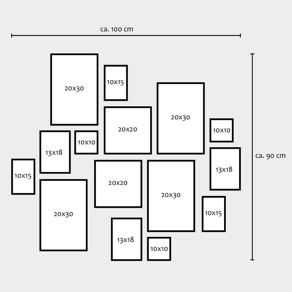 15er Set Bilderrahmen Modern Weiss Aus Mdf 10x15 Bis 20x30