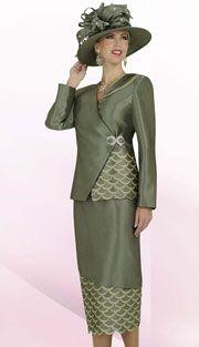 cfc7ed6bb13f Moss Green 2-Pc Shantung Ben Marc Style BMP47238   Donnie s Dresses ...