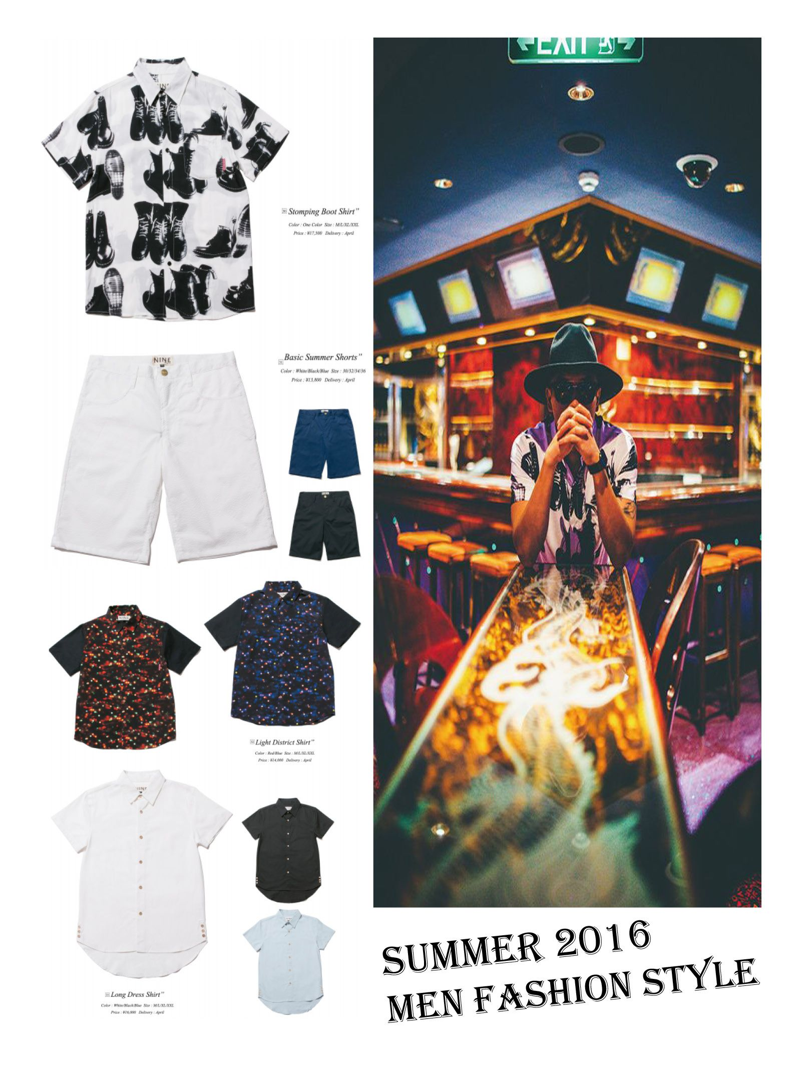 Summer 2016 Men Fashion Style. BY Nine Rulaz Japan.  #MenStyle #Fashion #Summer2016 #ArtInspired #Outfits #NineRulaz #Zerone