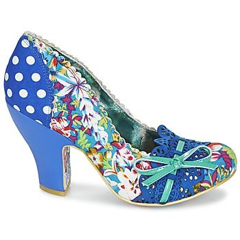 0184a1a07150 Court-shoes Irregular Choice Make My Day Blue   FLOWERS