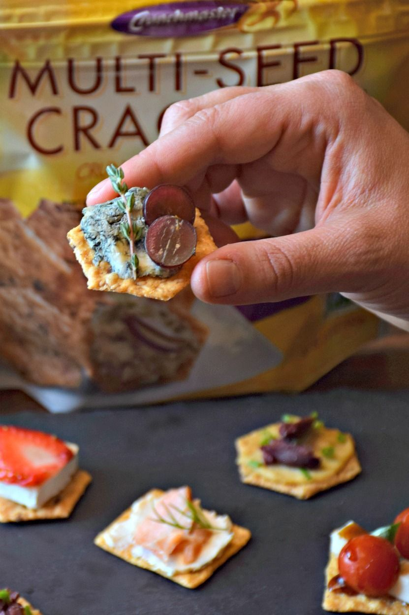Made with nutritious and naturally gluten free whole grains,Crunchmaster® Crackersoffer the perfect, light and crispy vessel for just about any topping. We're sharing five yummy ways to top Crunchmaster Crackers!