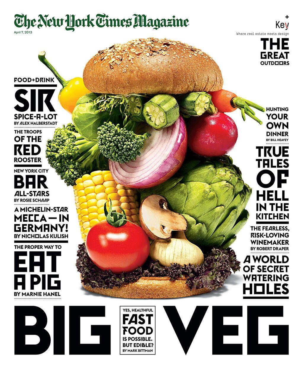 vegan diet magazine ad