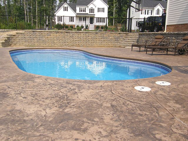 Average Cost Of Inground Pool | Swimming Pool Retaining Walls And Misc.  Photos