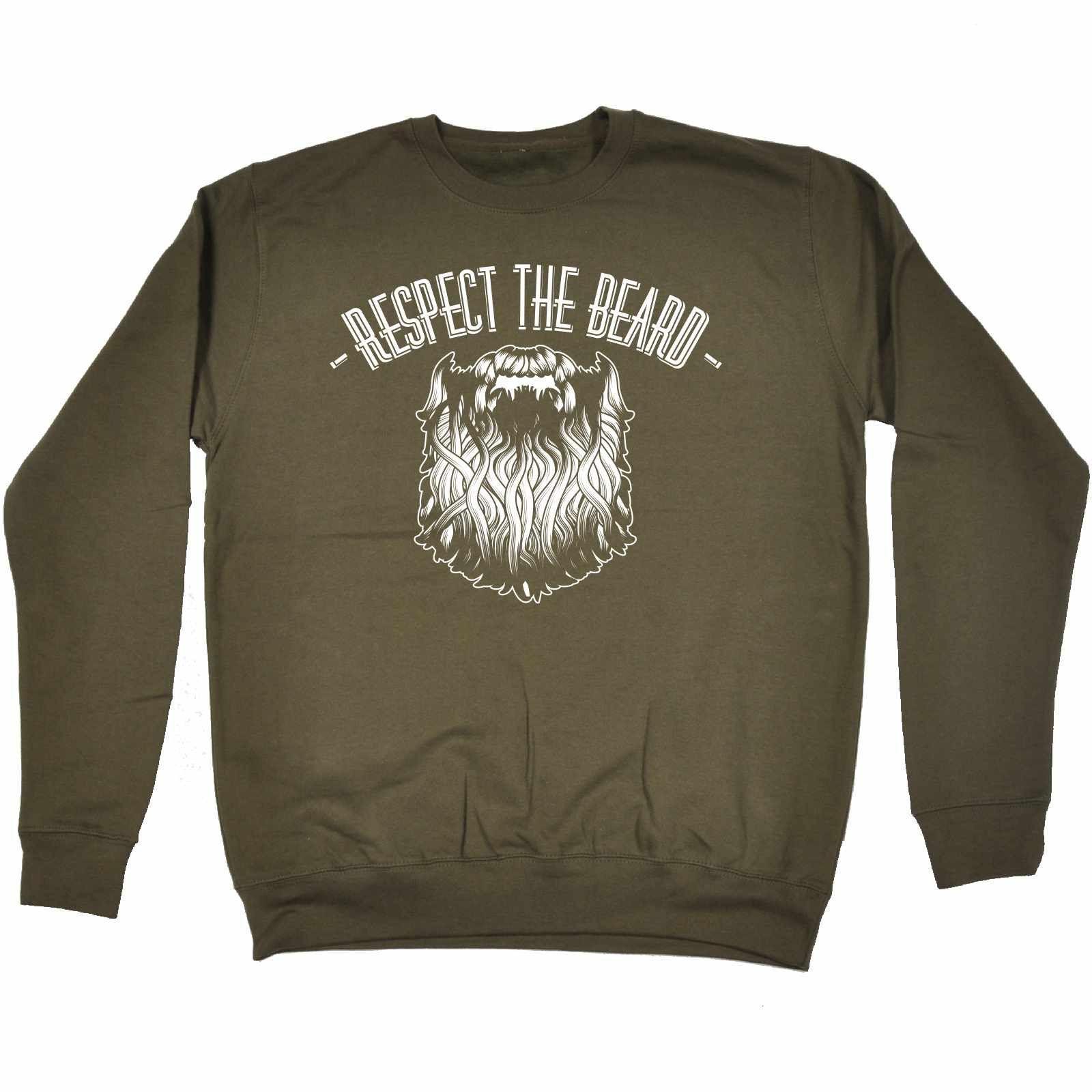 123t USA Respect The Beard Funny Sweatshirt