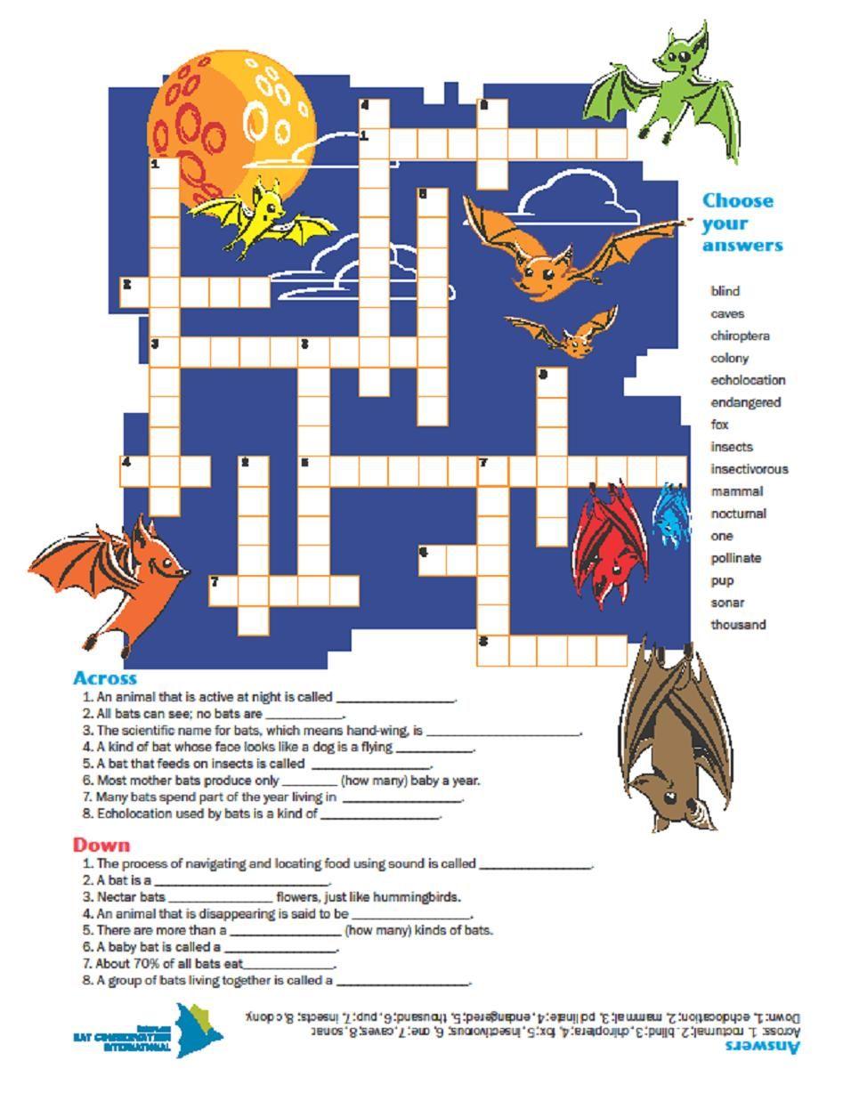 Bat Crossword Puzzle  Bat Conservation International