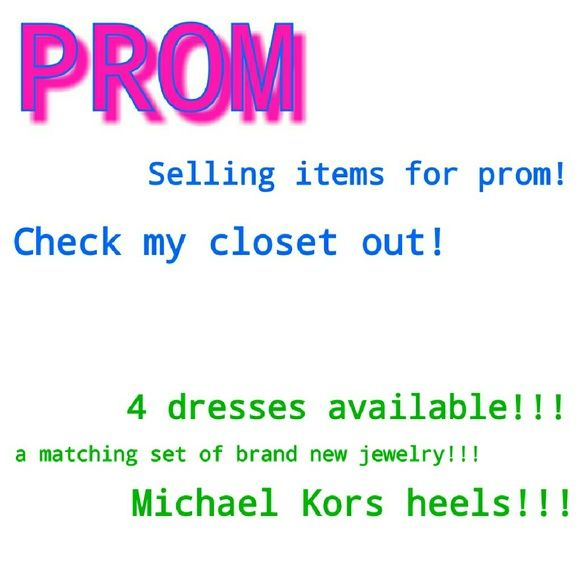 Prom items!!! Dresses, jewelry, and shoes! Dresses Prom
