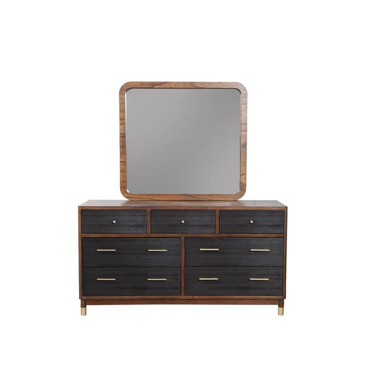 Boleynwood 7 Drawer Double Dresser Allmodern Modern Dresser Dresser With Mirror Alpine Furniture
