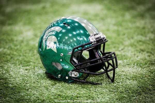 Chrome Michigan State Football Helmet Michigan State Football Football Helmets Michigan State