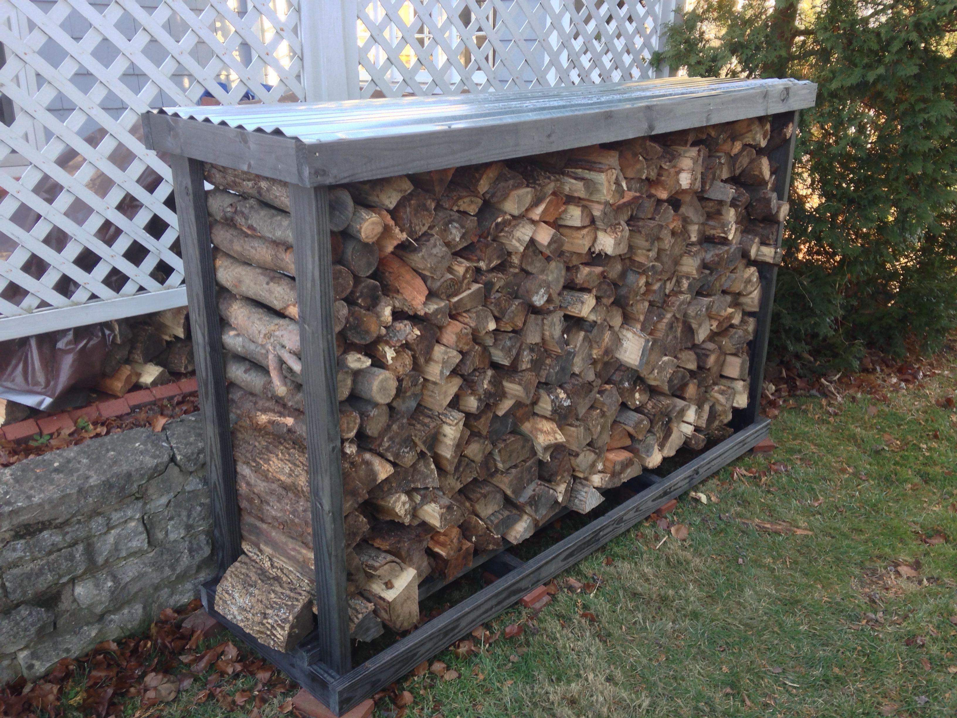 50 homemade firewood rack 4x 2x4x5 treated lumber