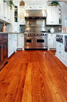 Reclaimed Heart Pine Kitchen Hardwoodflooringkitchen