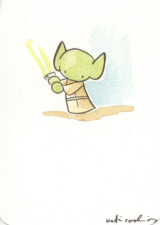 Yoda Whoosh Favorite Katie Cook Illustrations In 2019