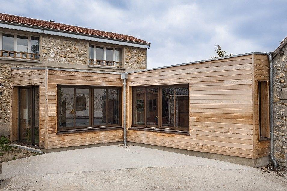 Harmonie des mati res concordance des couleurs for Extension en bois pour maison en pierre
