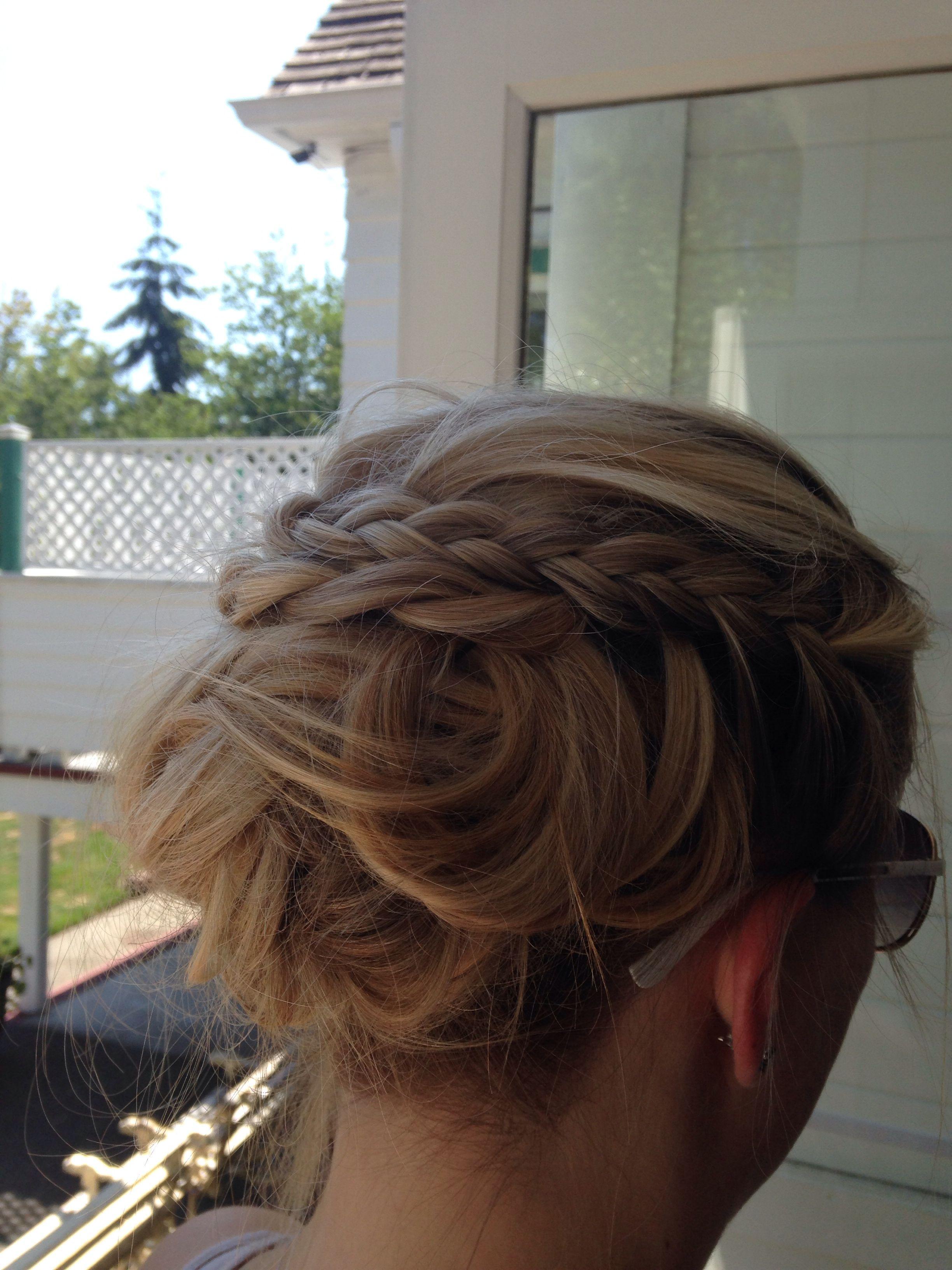waist length hair braided updo   wedding and editorial work