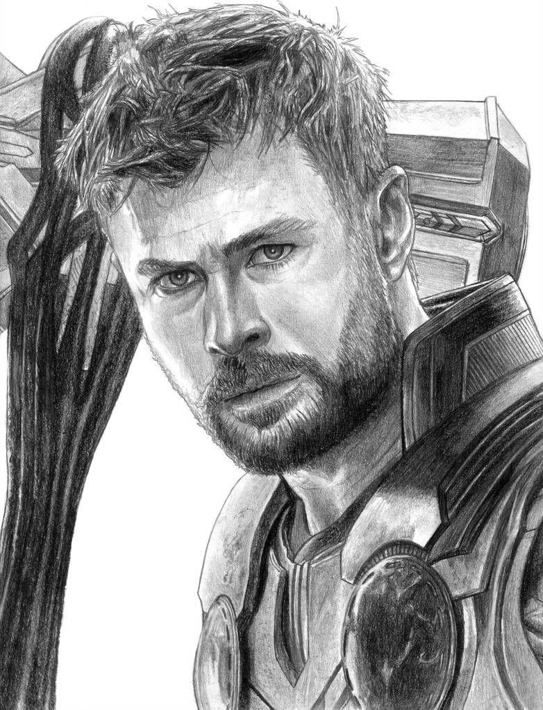 Thor Avengers Endgame By Soulstryder210 Marvel Art Drawings