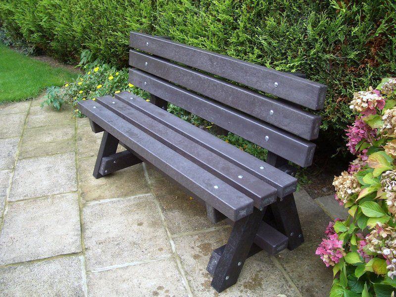 Ribble Garden Bench With Backrest Plastic Lumber Garden Table Garden Bench