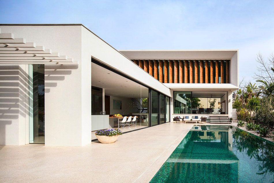 Projeto em l em tel aviv tel aviv ems e design for L architecture moderne des villa