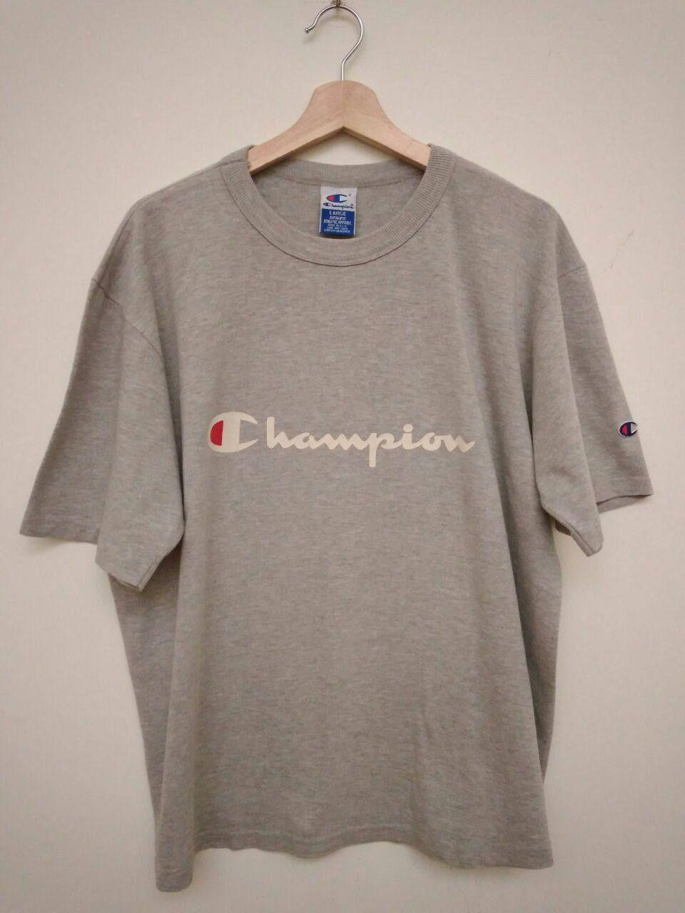 fc380287b Vintage 80s 90s Champion Logo Grey T-Shirt Size L | Sweatshirt ...