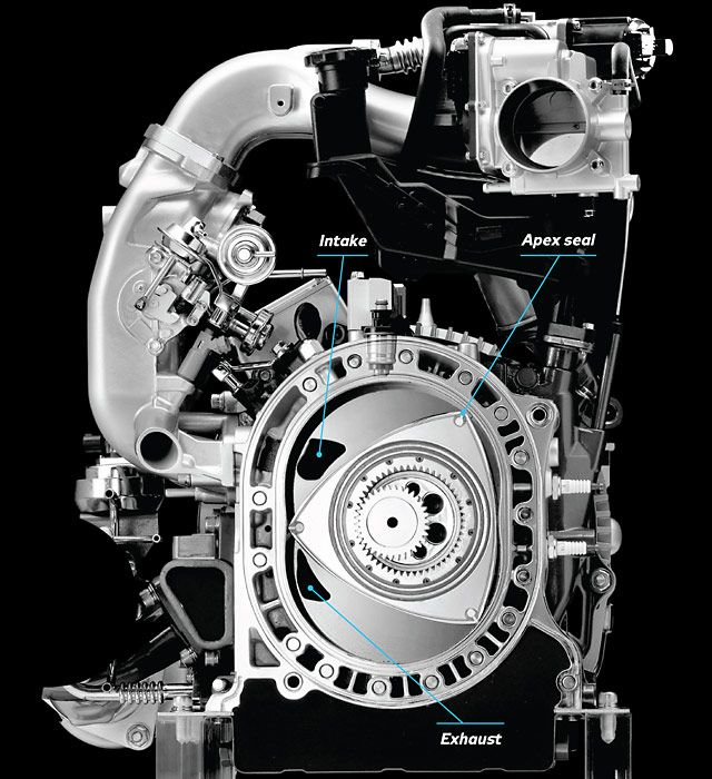 How It Works The Mazda Rotary Engine With Video Por Mechanics