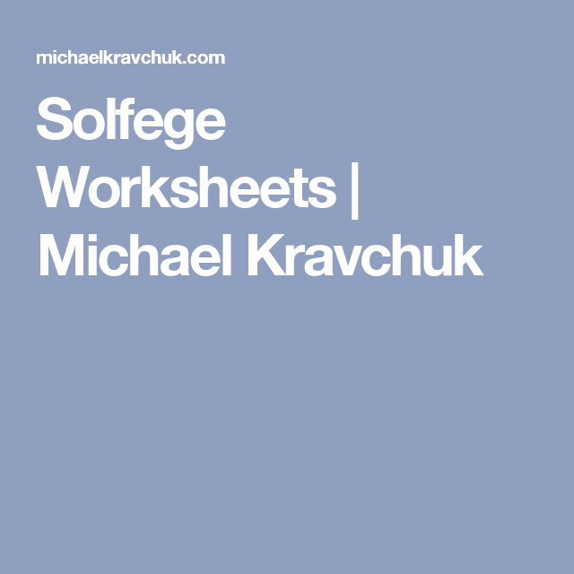 Cml Math Worksheets Kindergarten Solfege Worksheet Music Pinterest ...