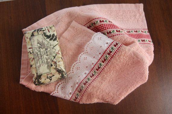 Vintage handmade Turkısh cotton hand towel Special by ezoartbox