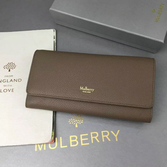 aa903b73c1 2016 A W Mulberry Continental Wallet Clay Small Classic Grain Leather