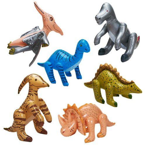 Jumbo Inflatable Dinosaurs ( 6 count) by Fun Express Fun ...