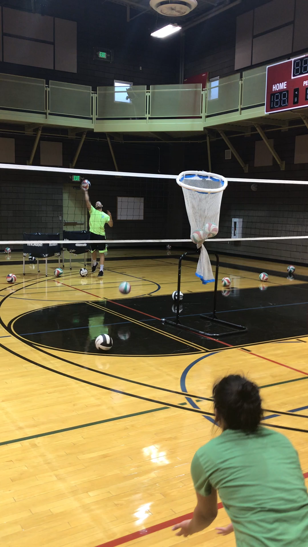2 Volleyball Passing Drills How To Get Better At Passing In Volleyball Video Video Volleyball Passing Drills Volleyball Workouts Volleyball Drills