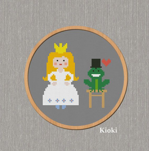 Cross Stitch Pattern The Princess and the Frog Instant Download