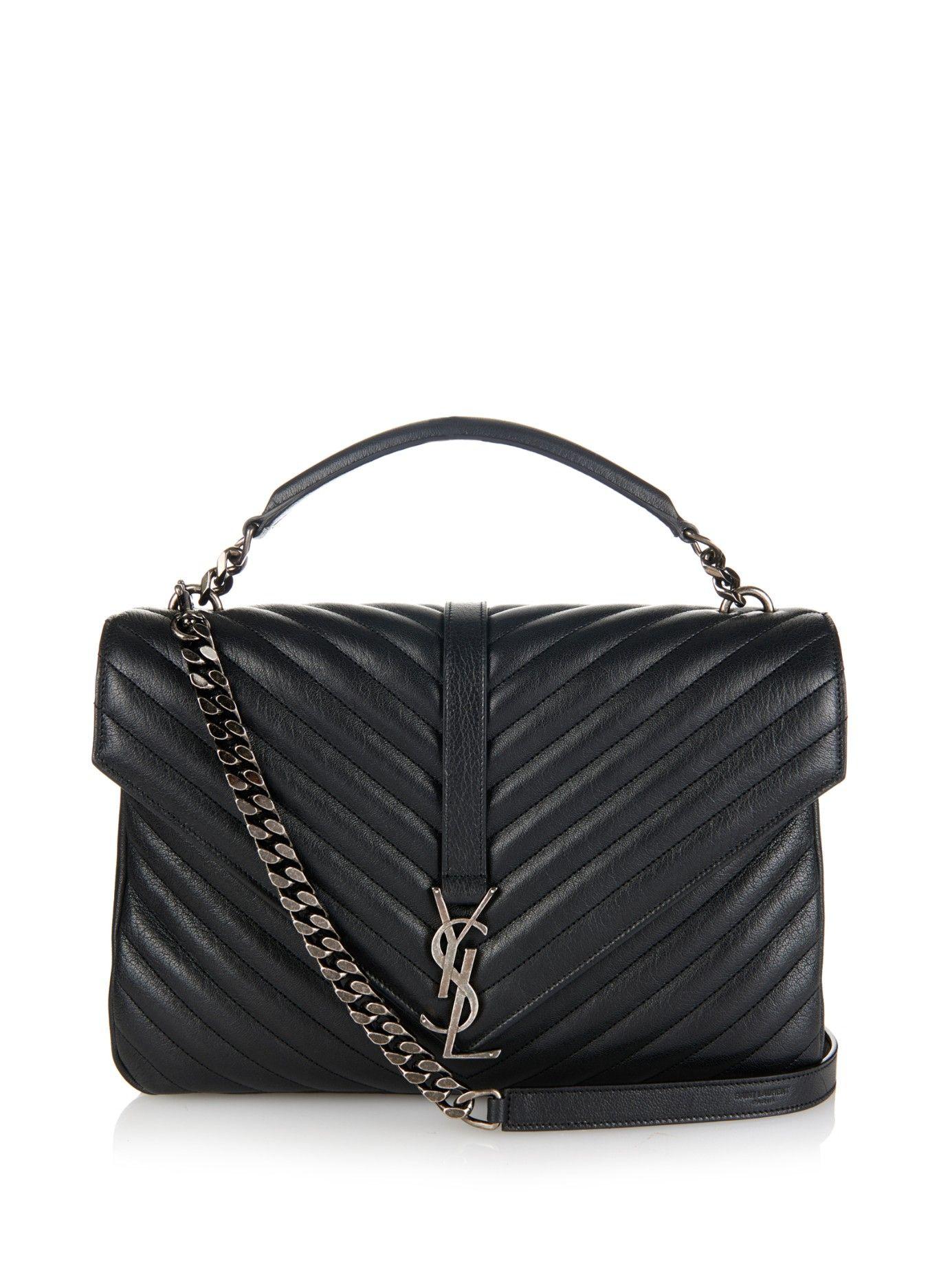 Monogram quilted-leather shoulder bag   Saint Laurent   MATCHESFASHION.COM UK