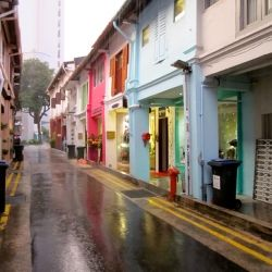 Singapore's Haji Lane, full of independent boutiques, vintage goods, and local designers.