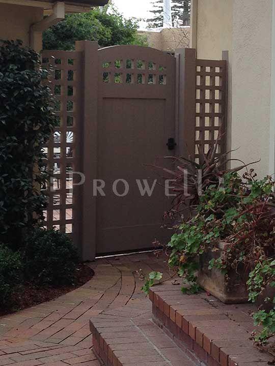 Prowell Woodworks Premier Garden Gate 20 Trellis Side