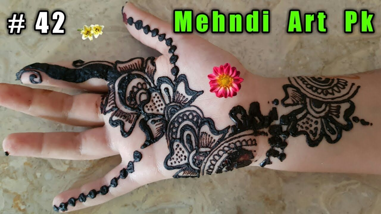 Apply Mehndi Hands : How to apply mehndi on hands step by tutorial art pk