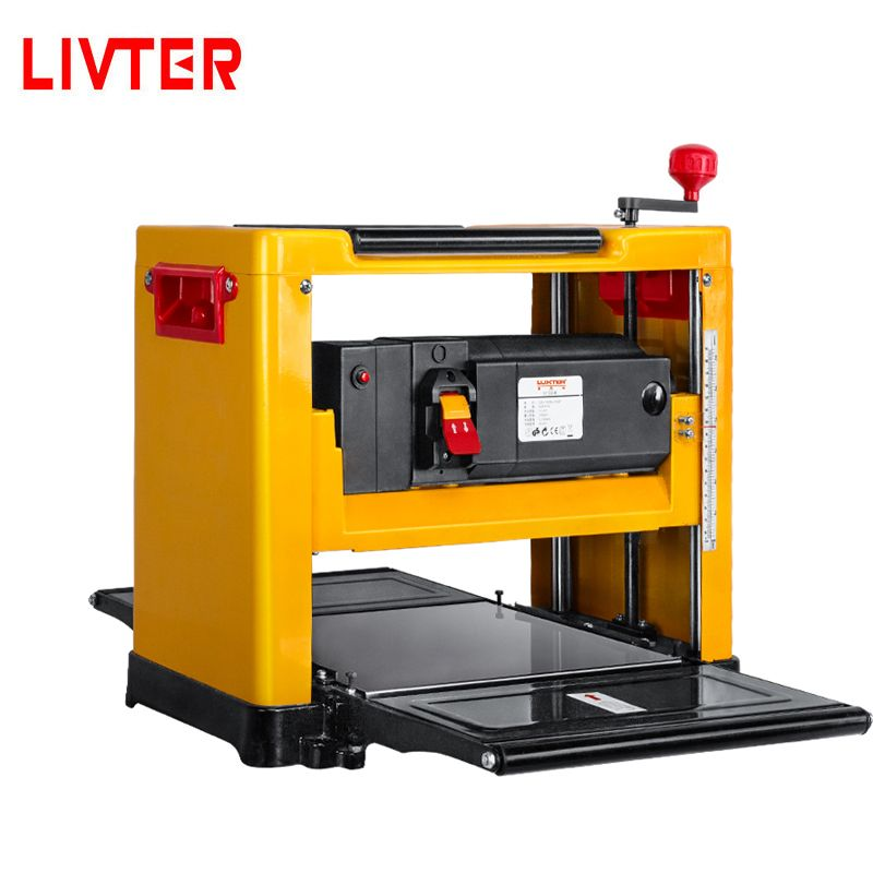 LIVTER Automatic Woodworking Tool Wood Thickness Bench Planer with Spiral Cutter Head