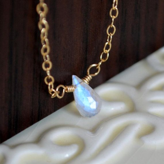NEW Rainbow Moonstone Necklace Simple Choker by livjewellery, $48.00 https://www.etsy.com/listing/179066264