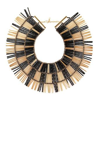 Noir Jewelry bugle bead collar $285.  Want.  Want.  Want.