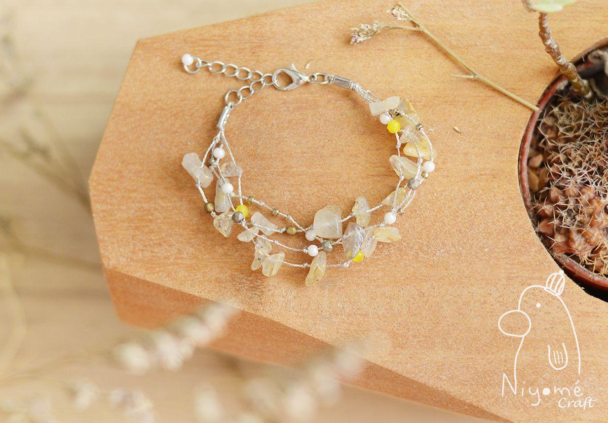 Rutile quartz handmade woman fashion bracelet from niyome craft at