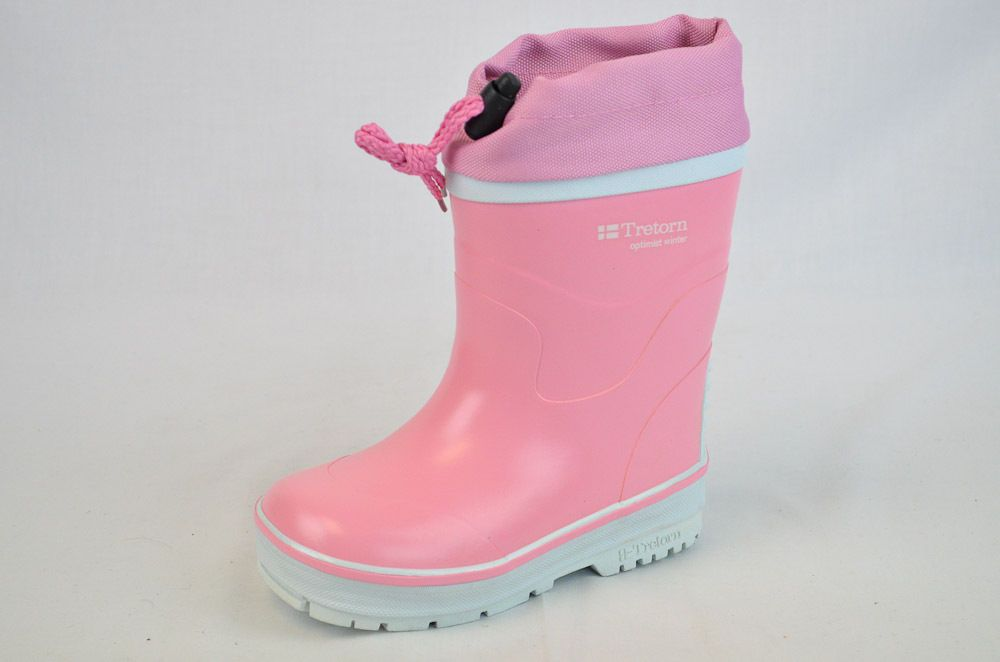 NIB! $55 TRETORN OPTIMIST WINTER GIRL'S PINK LINED RUBBER BOOTS US 11 M EU 28