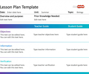 Simple Lesson Plan Template For Powerpoint  Sharifa