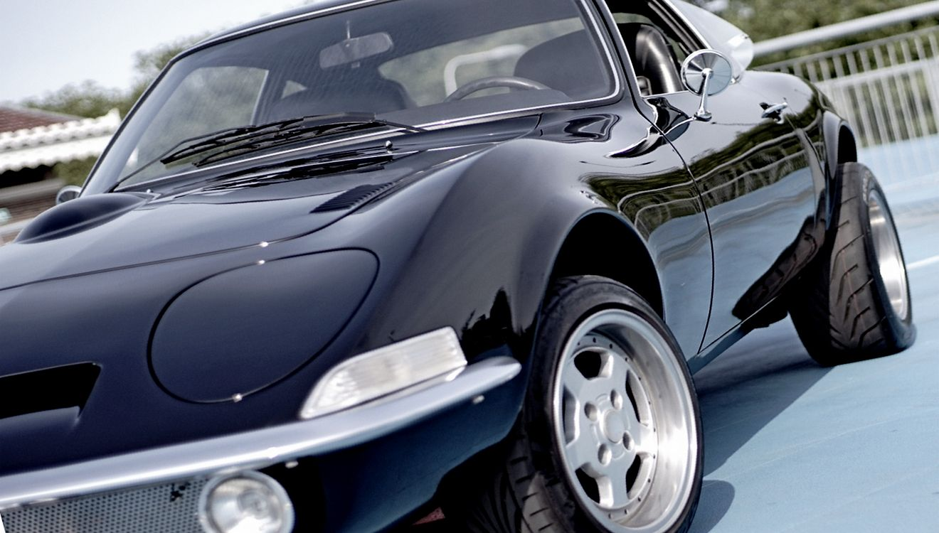 Opel Gt Charcoal Oldtimers