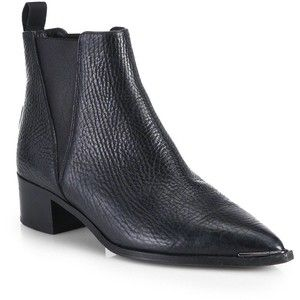 182146e02cf Acne Studios Jensen Pebbled Leather Ankle Boots