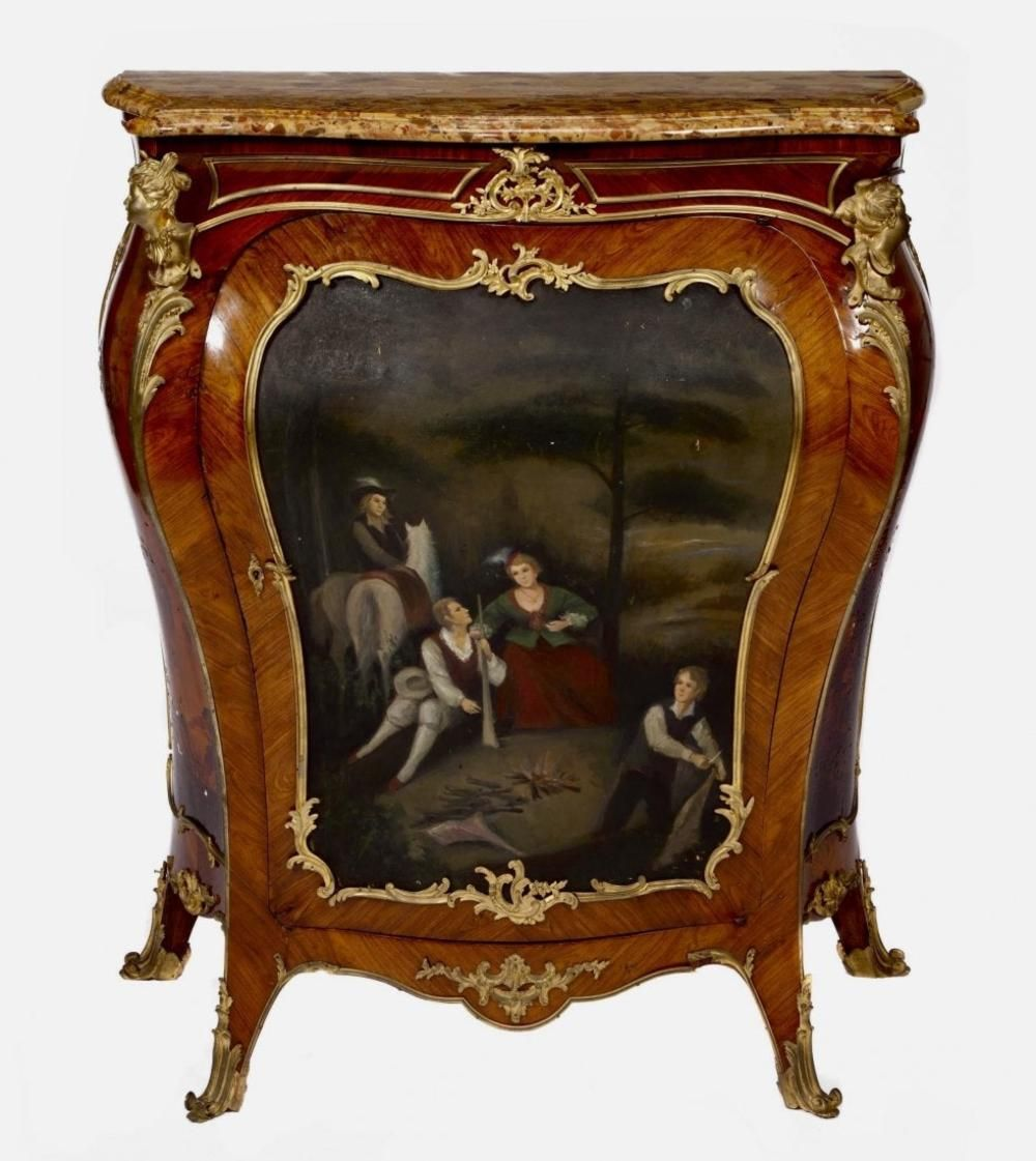 A GOOD GILT BRONZE MOUNTED VERNIS MARTIN COMMODE in 2020