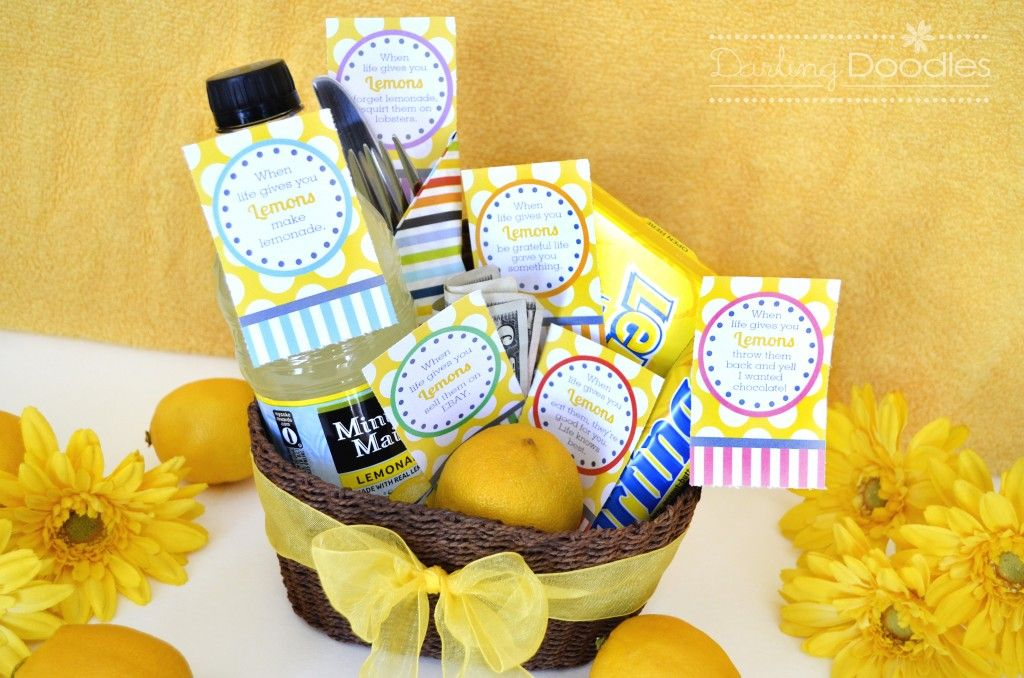 When life hands you lemons gift basket.  Great gift to cheer a friend!