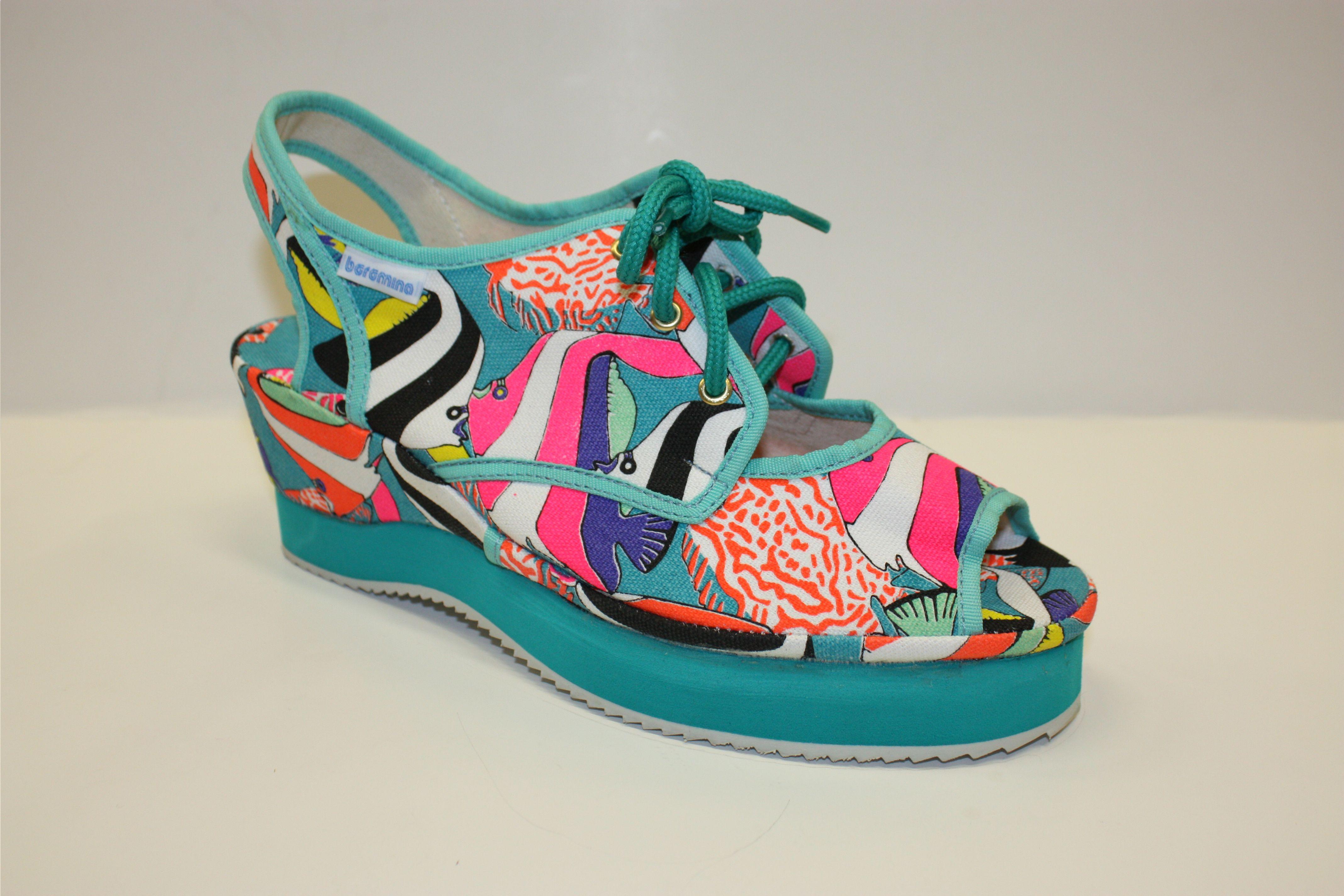 Boromina Big Blue Reef Shoes Canvas Shoes Fashion Shoes