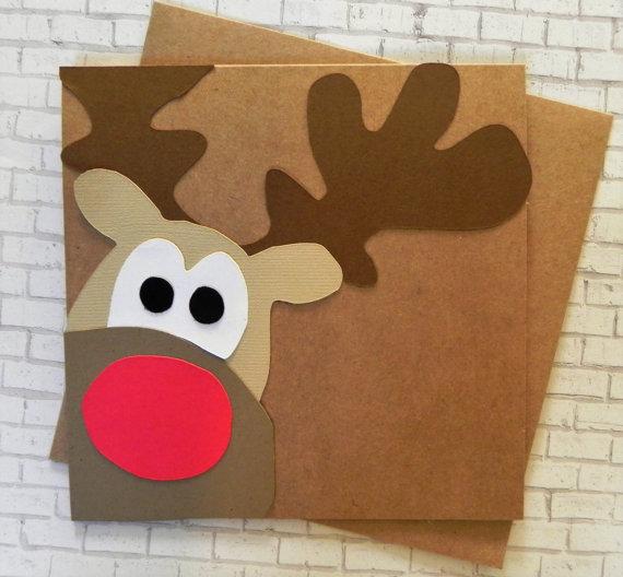 Rudolph Christmas Card Christmas Card Set Reindeer Card