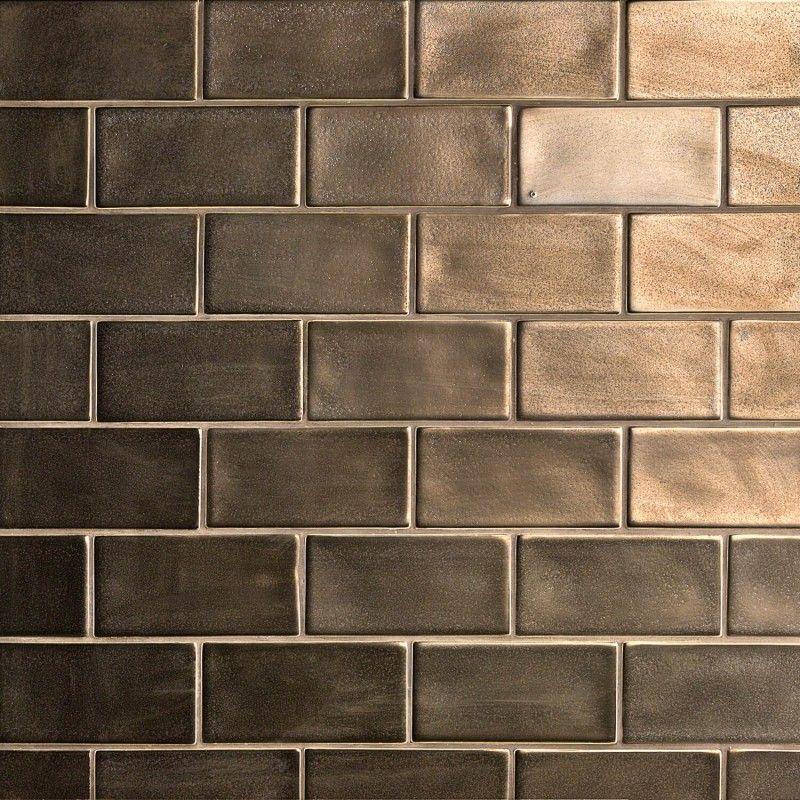 Nabi Metallic Copper 3x6 Ceramic Tile Ceramic Subway Tile Ceramic Tiles Ivy Hill Tile