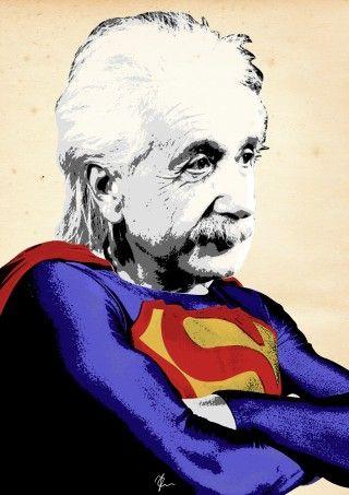 Resultado de imagen para einstein y superman